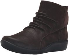 Clarks Women's Sillian Chell Boot, Brown Synthetic Nubuck, 8.5 W US... These are the boots your feet have been dreaming of. From its soft fabric linings to its ortholite cushioned foot bed and super lightweight, shock-absorbing eva outsoles, it adds comfort to every step. Slip on this adjustable boot from the Clarks cloud steppers collection and take on your busy......http://bit.ly/2ocJEbX