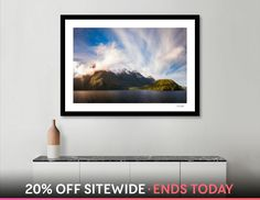 Discover «Glorious Light early in the Morning on Lake Manapouri», Numbered Edition Fine Art Print by Daniela Constantinescu - From $24.9 - Curioos