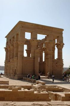 Trajan's Kiosk at Philae temple, considered by many to be the most appealing structure on Philae, Trajan's Kiosk is today a roofless structure, is an amazing place to visit http://www.travel2egypt.org/tours/aswan/day-tour-to-unfinished-obelisk-high-dam-temple-of-philae-8422_37/