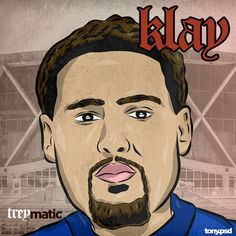 """Golden State Warriors cover art  inspired by Nas's classic album  """"illmatic"""" featuring the Warriors Klay Thompson. Vector artwork by Tony.psd"""