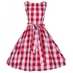 Audrey Check Swing Party Dress   Vintage Inspired Fashion - Lindy Bop