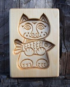 French Signs, Tree Cookies, Little Fish, Catfish, Natural Wood, Gingerbread, Coasters, Christmas Gifts, Carving