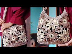 Crochet Tutorial    Tas rajut mini bunga ambyar    Sling bag Crochet - YouTube Crochet Purses, Purses And Bags, Crochet Top, Pattern Ideas, Tank Tops, Mini, Youtube, Women, Fashion