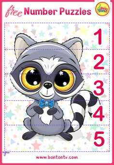 FREE Number Puzzles - Preschool Printables for Kids - Learning Numbers, Counting - Fun Math Activities and Worksheets for Homeschooling by BonTon TV - Besplatne Puzzle za zabavno učenje brojeva od 1 do 10 - Matematika, Brojanje do 10 Printable Puzzles For Kids, Preschool Printables, Numbers For Kids, Numbers Preschool, Abc Crafts, Fun Math Activities, Number Puzzles, Picture Puzzles, Free Preschool