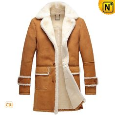 CWMALLS® Madison Rancher Sheepskin Trench Coat CW878604 - Rancher sheepskin trench coat is made from natural Australian imported shearling materials, very soft and comfy for wearing, the simple but general design adds more glamour to the coat, hope you not to miss it during the Christmas season, CWMALLS® can also customize it for you.