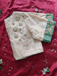 White Blouse Designs, Silk Saree Blouse Designs, Bridal Blouse Designs, Blouse Patterns, Hand Work Blouse Design, Stylish Blouse Design, Seda Sari, Blouse Desings, Indian Blouse