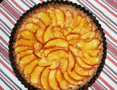 peach tart- maybe try in the skinny rectangle tart pan
