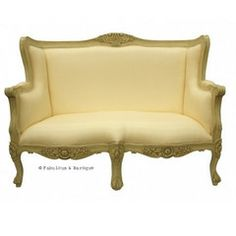 Camille French Love Seat - Ivory