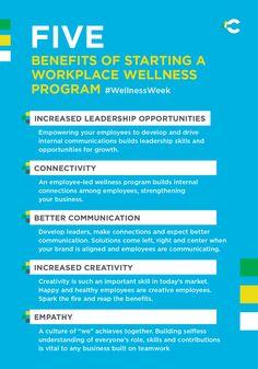 Five benefits of starting a workplace wellness program #WellnessWeek
