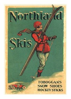 Northland Skis, 1935, Made in Minnesota. Worlds largest ski producer of that era.