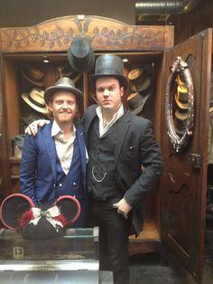 with Master Milliner Gunner Foxx at Schaeffers Garments Hotel