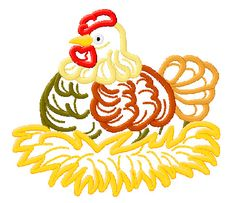 Baby Hen Machine Embroidery Design 005 – FREE Embroidery Designs