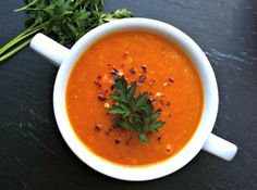 Red Lentil Coconut Soup: red lentils, rich  spices and coconut pair nicely in this warming soup // A Cedar Spoon