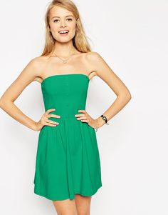ASOS Bandeau Sundress with Button Detail- $28 (that color, and those buttons make this little dress just the thing for summer)
