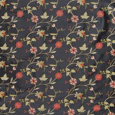 The G2214 Black upholstery fabric by KOVI Fabrics features Floral, Asian pattern and Black as its colors. It is a Faux Silk, Embroidery type of upholstery fabric and it is made of 100% Polyester With 100% Rayon Embroidery material. It is rated Heavy Duty which makes this upholstery fabric ideal for residential, commercial and hospitality upholstery projects. This upholstery fabric is 51 inches wide and is sold by the yard in 0.25 yard increments or by the roll. Call or contact us…