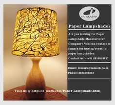 A paper lampshade can be given alluring shape and shading as indicated by one's own decision. A light hued paper lampshade can add splendor to the room and it is likewise an image of sentimentalism and peace. Commonly scrap papers are likewise utilized for making a paper lampshade. It is a standout amongst the most lovely and savvy method for enhancing the house.