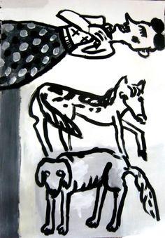 Sing - acrylic and ink - Gary Goodman