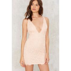 Little by Little Lace Dress (870 ARS) ❤ liked on Polyvore featuring dresses, pink, pink lace cocktail dress, mini cocktail dress, lace dress, plunging neckline mini dress and lacy dress