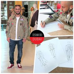 #ITLODay 1 of Esmod Dubai Fashion Design Workshop short course student Omar N. wearing an @alexandermcqueen shirt with @diesel jeans @gucci shoes and @montblanc sunglasses. In class hes practicing how to sketch his own designs in preparation for his final portfolio for the end of the course. - Im an interior designer and were expanding into fashion design as well. Its a great opportunity for me as Ive had ideas for designs for a long time and now I can draw them! - Like Omar join one of our…