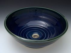 Classic Handcrafted Porcelain Clay Vessel Sink - Midnight
