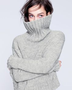 J.Crew women's chunky turtleneck sweater.