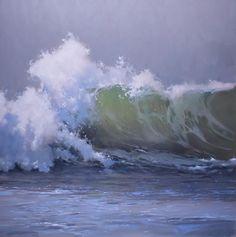 "Richard Johnson ""Timeless Rhythm"" 48x48 oil on canvas. #richardjohnson #addisongallery #seascapes"