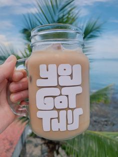 Etsy Business, Coffee Gifts, Coffee Quotes, White Vinyl, Etsy Jewelry, New People, You Got This, Gifts For Kids, Mason Jars