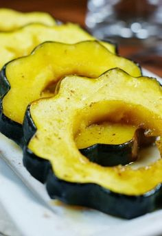 The Kitchen is My Playground: Baked Acorn Squash with Maple Glaze