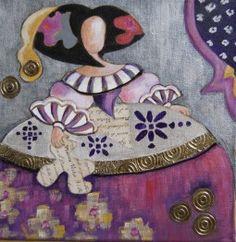 Menina Raquel de Bocos Paper Dolls, Art Dolls, Paper Mache Clay, Cicely Mary Barker, Decoupage, Illustrations, Ceramic Art, Pop Art, Canvas Art