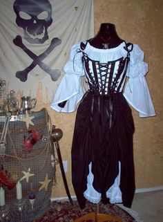 Striped Pirate Renaisssance Costume with Bloomers    https://www.etsy.com/listing/156728869/striped-pirate-renaisssance-costume-with?ref=shop_home_active_24