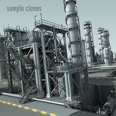 3D Refinery - 3D Model