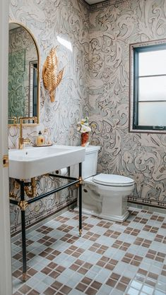 Claire Thomas: Art Deco Inspired Powder Room | Fireclay Tile