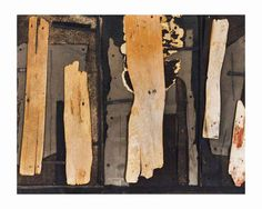 William Austin Kienbusch (1914-1980), New England Collage II, 1947, collage--cedar shingles, asphalt roofing, tar paper and mixed media nailed to a painted board in a wooden and Plexiglas case, 66 x 80.6 x 7 cm