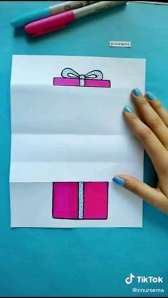 Diy Crafts Hacks, Diy Crafts For Gifts, Diy Home Crafts, Cool Paper Crafts, Paper Crafts Origami, Fun Crafts, Instruções Origami, Diy Birthday, Diy Cards