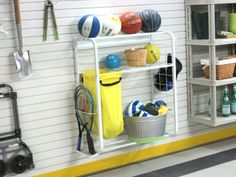 £152.58 The GT2010 Hobby / Sports Centre with TekTrak provides the complete solution for organising your sports and hobby items.    The package includes our Hobby / Sports Centre which comes with shelving, removeable canvas bag, hanger hooks and side tray, as well as TekTrak for mounting onto your garage wall.