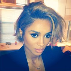 Ciara shared a picture of her new haircut on Instagram.