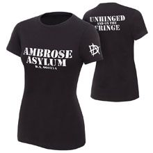 """Dean Ambrose """"Unhinged and on the Fringe"""" Women's Authentic T-Shirt"""