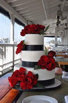 To see more gorgeous wedding cakes: http://www.modwedding.com/2014/11/10/much-love-brilliant-wedding-cakes/ #wedding #weddings #wedding_cake via Sweet Cheeks Baking Company
