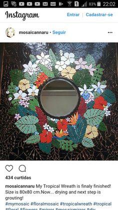 Mosaic Tray, Mosaic Pots, Mirror Mosaic, Mosaic Garden, Mosaic Glass, Mosaic Tiles, Glass Art, Tiling, Mosaic Crafts