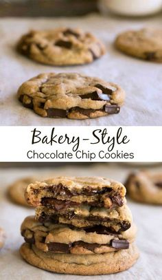 You won't believe how easy it is to make these Bakery-Style Chocolate Chip Cookies at home!  | http://www.ihearteating.com | #recipe