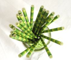 Bamboo Paper Straws Coastal Living Party Supplies by FioriBelle