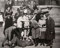The meeting of Constructivists and Dadaists in Weimar, Theo van Doesburg (in paper hat) with El Lissitzky (smoking pipe) behind him, and Tristan Tzara (with walking stick), Hans Arp (extreme right), and Hans Ricther (lying on the ground) . Doesburg, Photo, Dada Artists, Constructivism, Tristan Tzara, Artist, Image, Russian Avant Garde, Art Movement