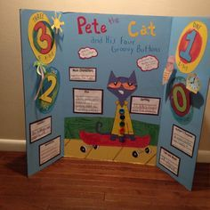 Pete the cat and his four groovy buttons reading fair board. Book Report Projects, Reading Projects, Fair Projects, Book Projects, Science Projects, School Projects, School Ideas, Reading Fair, Cat Reading