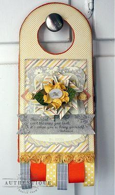 Authentique Paper: Be(You)tiful Door Hanger