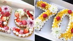 """This is """"Tartas de Letras Decoradas"""" by escueladetartas on Vimeo, the home for high quality videos and the people who love them. Yummy Treats, Delicious Desserts, Yummy Food, Raspberry Cake, Number Cakes, Mini Cheesecakes, Food Design, Yummy Cakes, Cake Pops"""