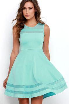 Final Stretch Aqua Dress at Lulus.com!