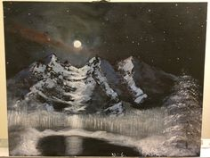 Moonlight - Acrylic Painting - size: 9x12 inch - Signed by MaxZgallery on Etsy