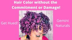 How to Color Your Hair Without the Commitment or Damage| Temporary Hair ... Temporary Hair Color, Natural Hair Tutorials, Color Your Hair, Hair Painting, Gemini, Hue, Crochet Necklace, Dreadlocks, Hair Styles