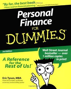 http://financepins.com/personal-finance-for-dummies-5/ Many Americans don't understand personal finance. If you're among them, it's probably not your fault. Personal Finance 101 is not offered in our schools– not in high school, not even in the best colleges and graduate schools. It should be. There are common financial problems and mistakes and different people keep making those same mistakes over and over again. Personal Finance Fo...