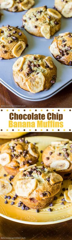 Chocolate Chip Banana Muffins- a breakfast favorite that everyone loves!